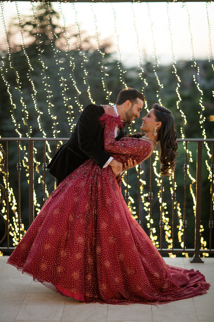 Anish & Mohini dancing during their Indian Wedding