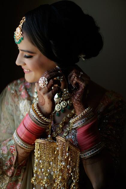 Jewelry close up shot at Anish & Mohini's Indian Wedding