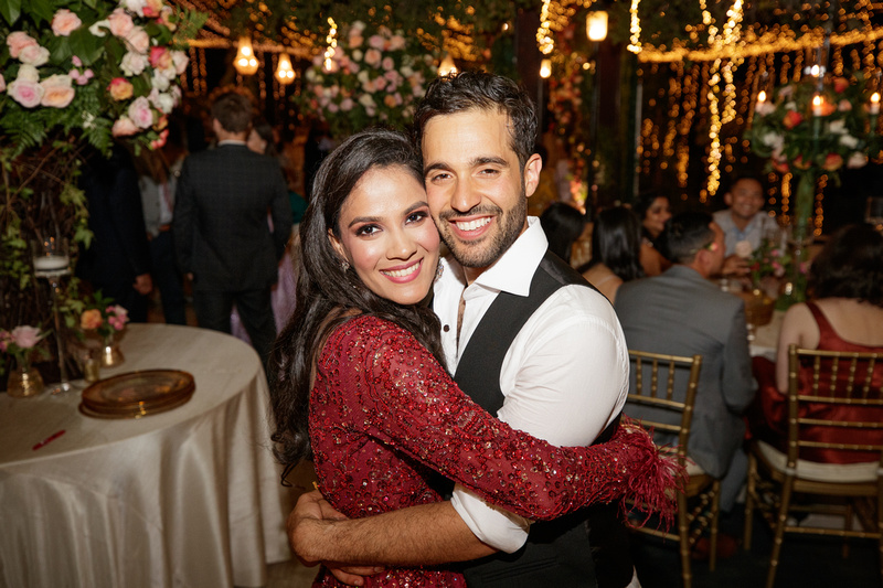 Anish and Mohini during their Indian Wedding