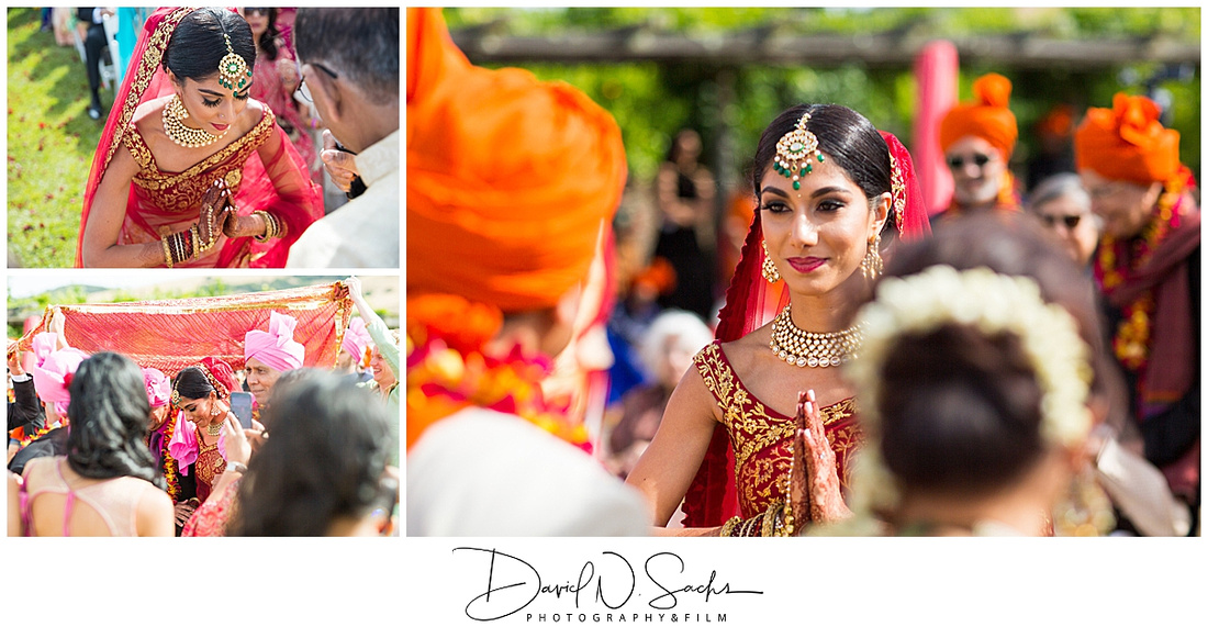 Photo shows a beautiful, colorful, energy filled Indian wedding complete with a mehndi, sangeet, baraat, ceremony, and reception in Sonoma California.