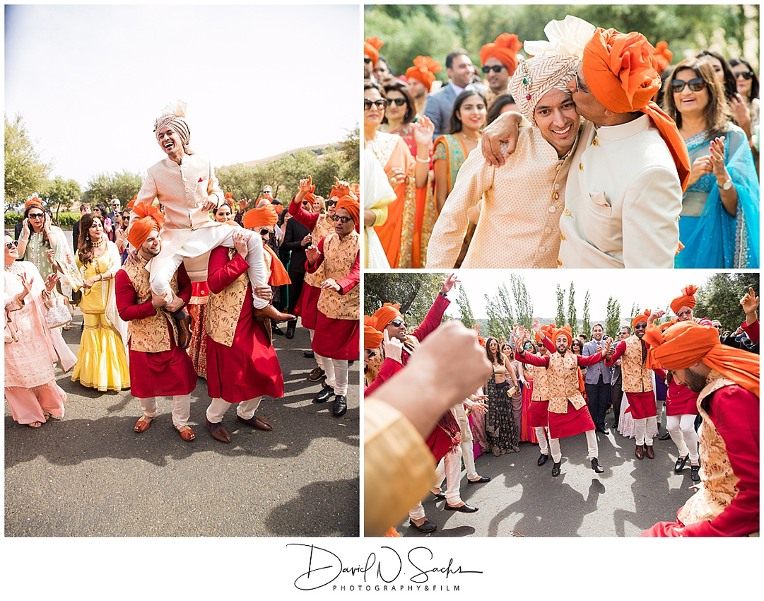 Photo shoes an Indian wedding in Sonoma California.
