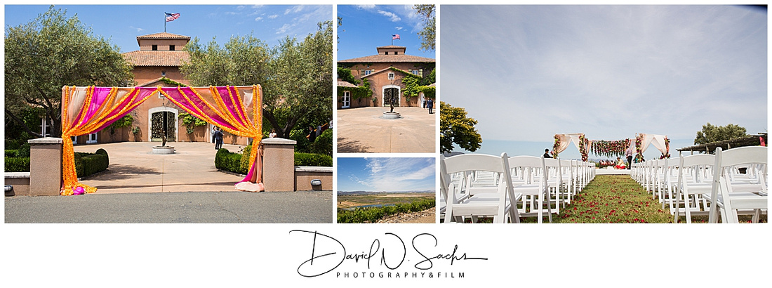 Photos show a beautiful Indian Wedding in Sonoma California.