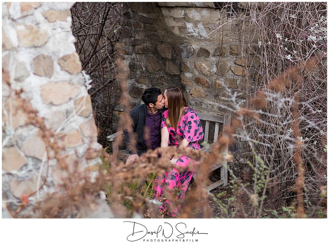 Engagement photos at the Tilden Regional Parks Botanical Garden
