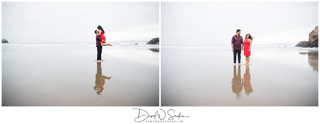 Legion of Honor and Ocean Beach Engagement Photos