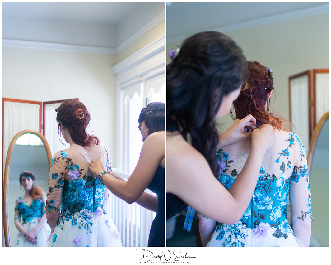 A colorful vintage wedding at the Sesnon House in California on Bastille Day