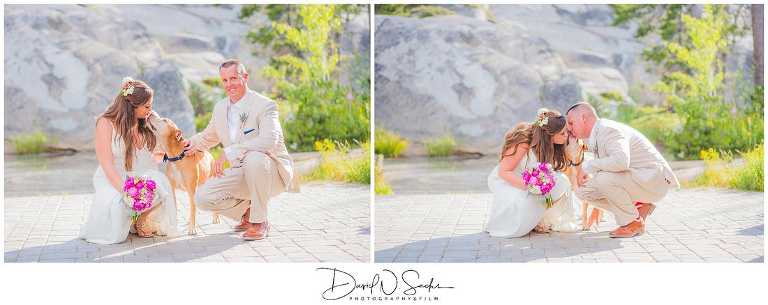 A sunny Spring Wedding in Lake Tahoe California.